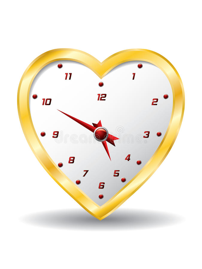 Orologio del cuore royalty illustrazione gratis