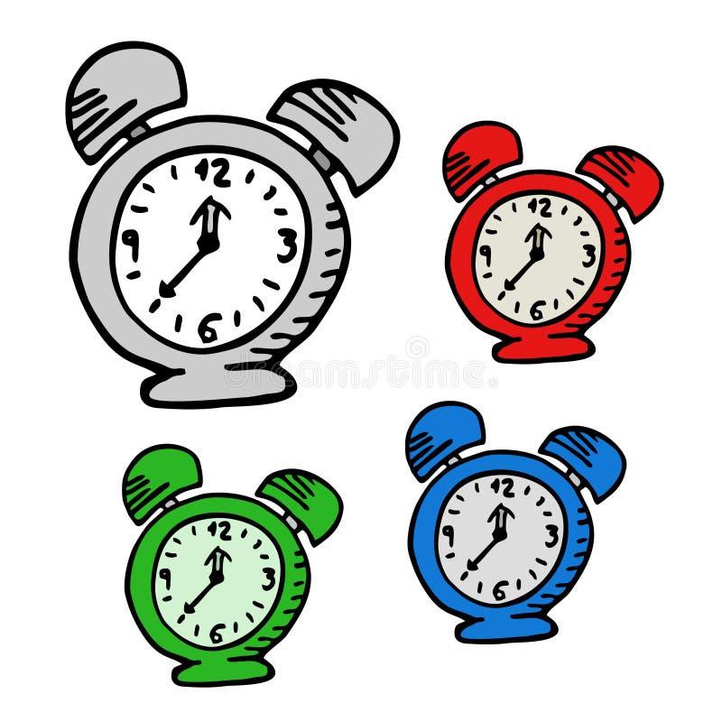 Orologio del fumetto illustrazione di stock