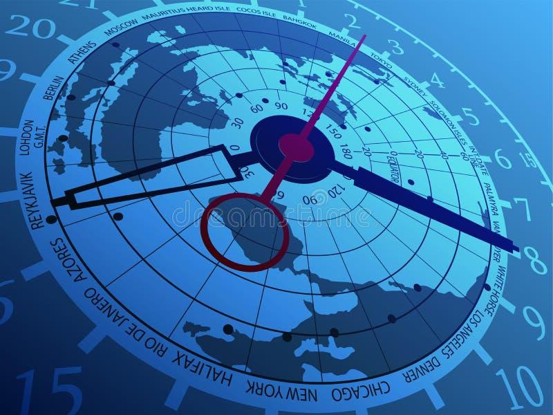 Orologio del mondo illustrazione vettoriale