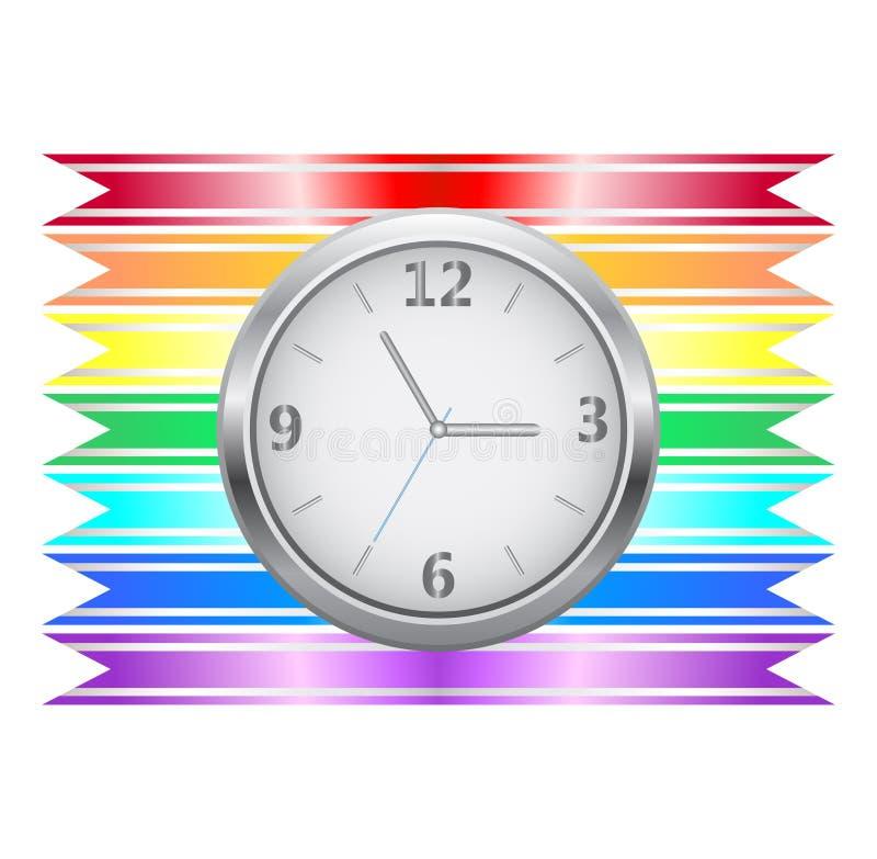 Orologio del nastro illustrazione vettoriale