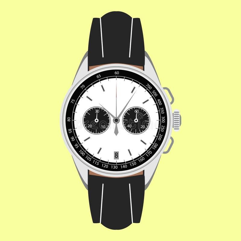 Orologio del ` s degli uomini illustrazione vettoriale