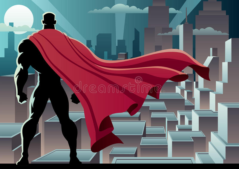 Orologio 3 del supereroe royalty illustrazione gratis