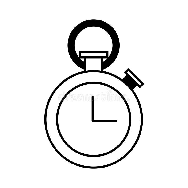 Orologio del temporizzatore di sport illustrazione di stock