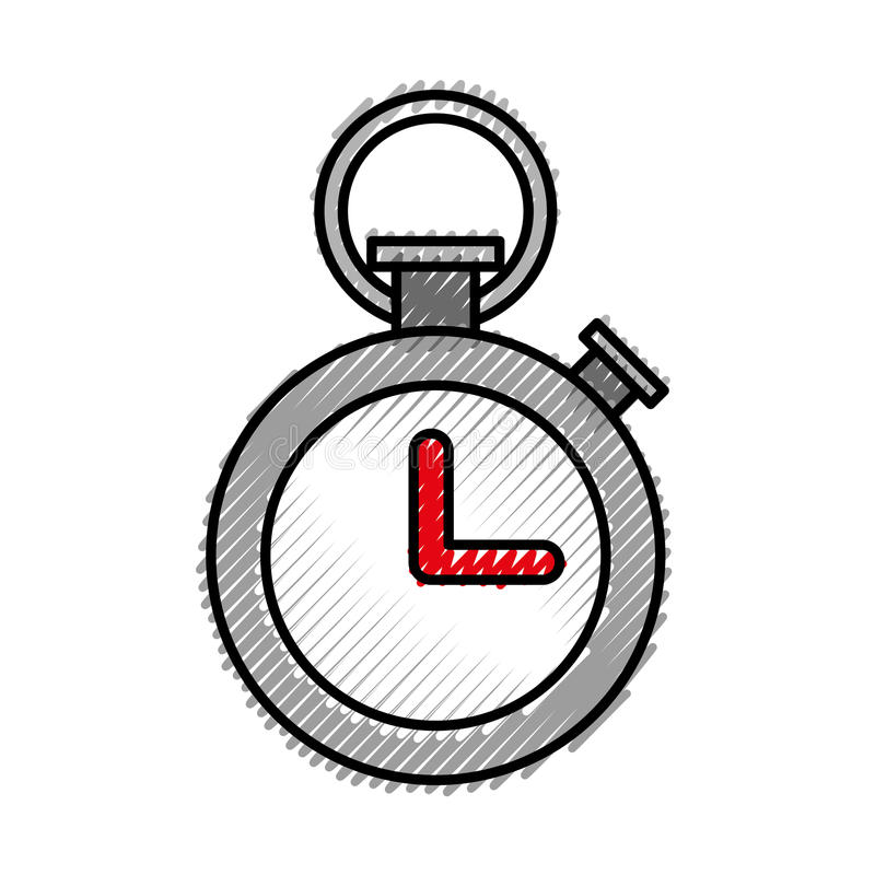Orologio del temporizzatore di sport illustrazione vettoriale