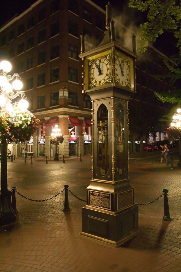 Orologio del vapore di Gastown fotografia stock libera da diritti