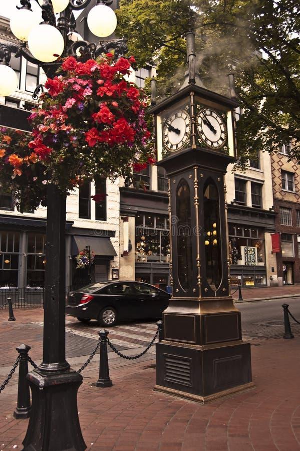 Orologio del vapore a Vancouver, Canada immagini stock libere da diritti