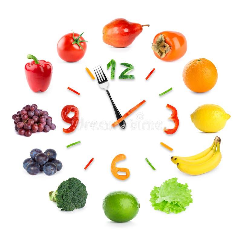 Orologio dell'alimento immagini stock libere da diritti