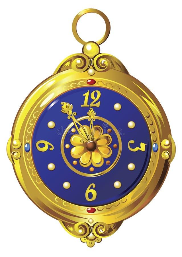 Orologio dell'oro illustrazione vettoriale