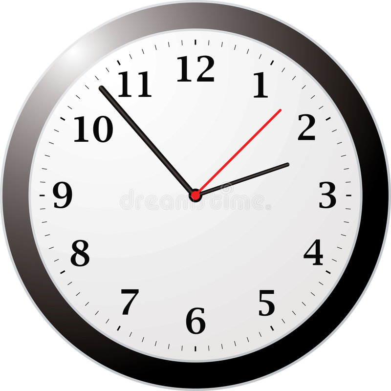 Orologio dell'ufficio royalty illustrazione gratis