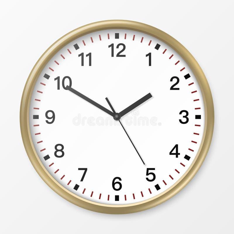 Orologio dell'ufficio della parete di vettore illustrazione di stock
