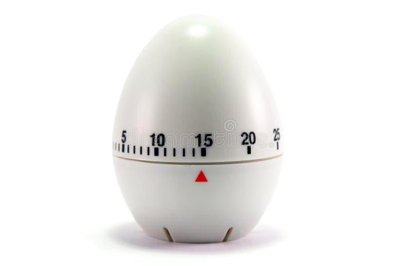 Orologio dell'uovo - 15 minuti fotografia stock libera da diritti