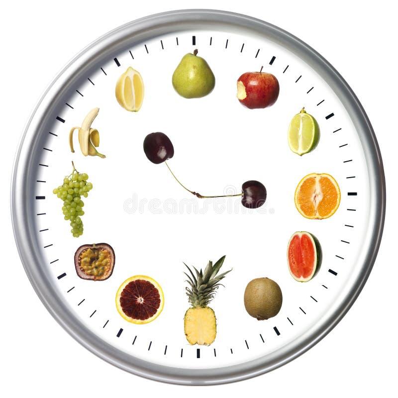 Orologio della frutta fotografia stock libera da diritti