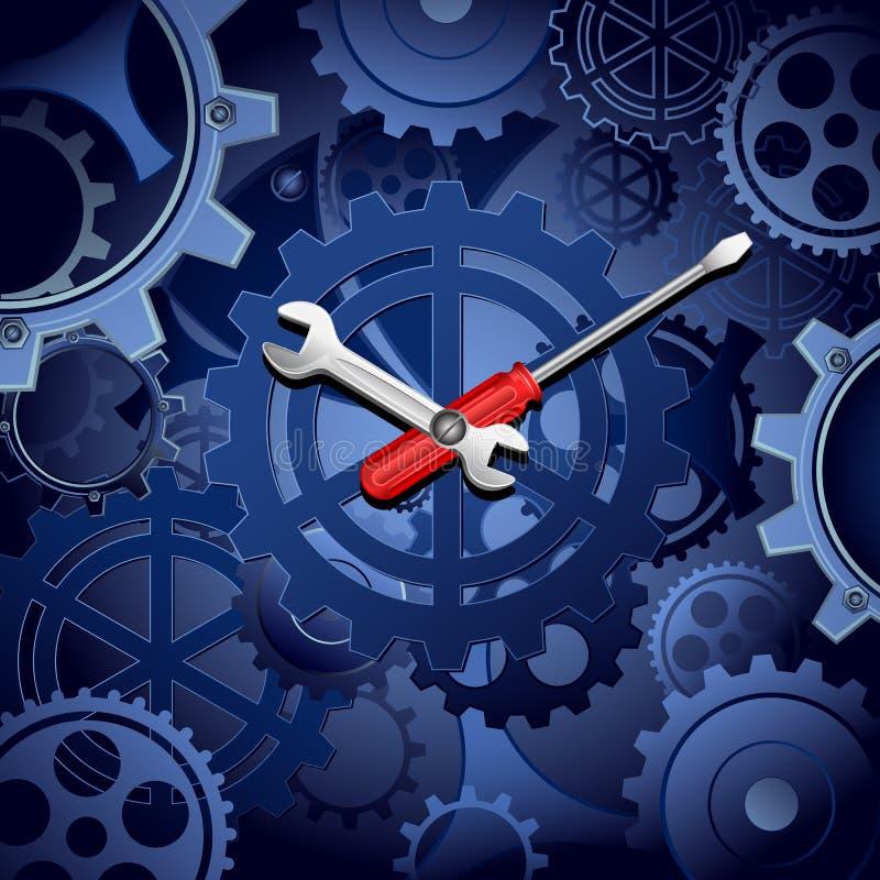 Orologio della ruota dentata illustrazione vettoriale