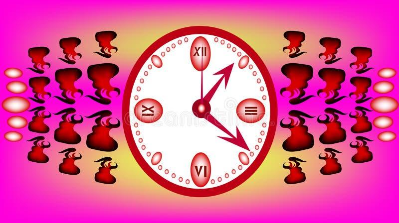 Orologio dentellare illustrazione vettoriale