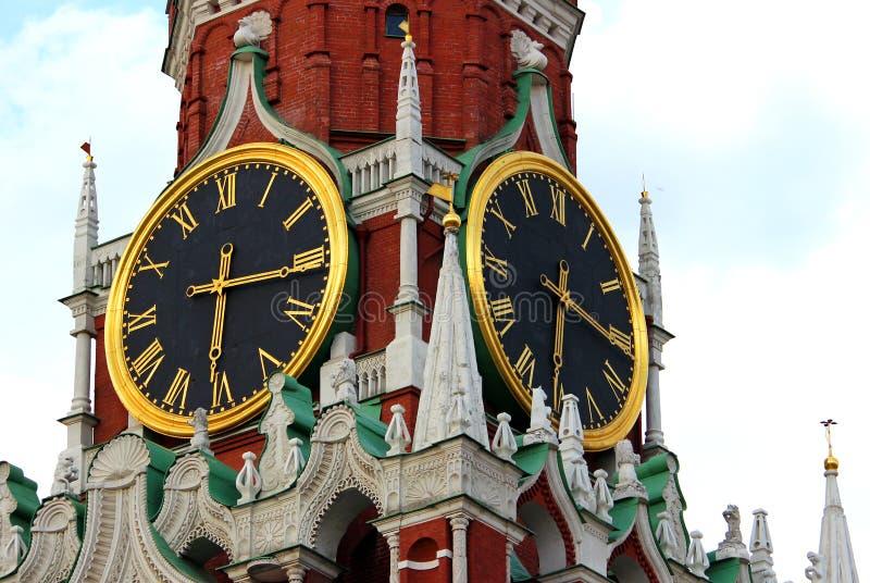 Orologio di Cremlino, Mosca, Russia fotografie stock libere da diritti