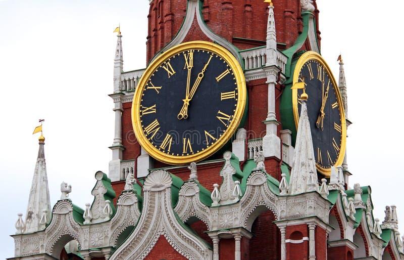Orologio di Cremlino, Mosca, Russia immagini stock