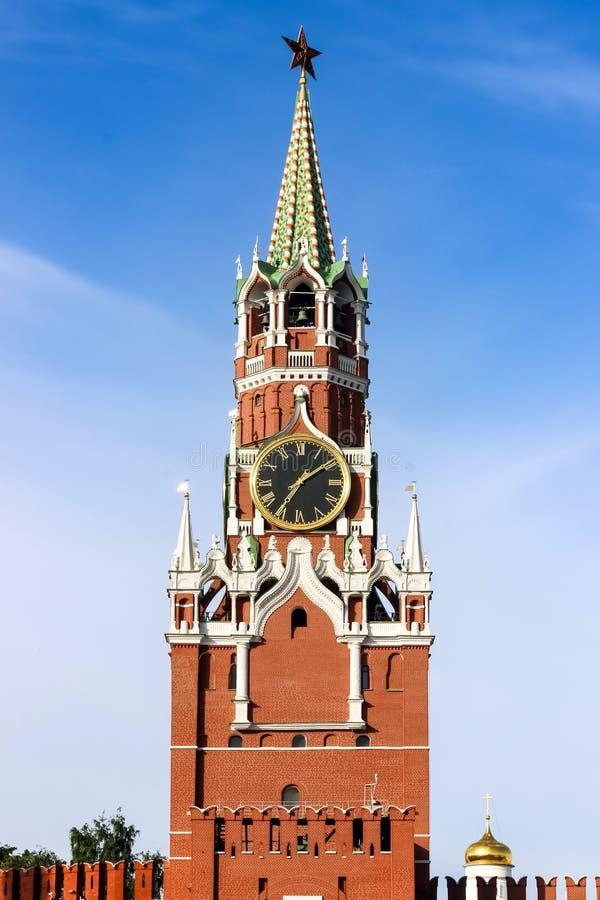 Orologio di Cremlino sul quadrato rosso, Mosca, Russia fotografia stock libera da diritti
