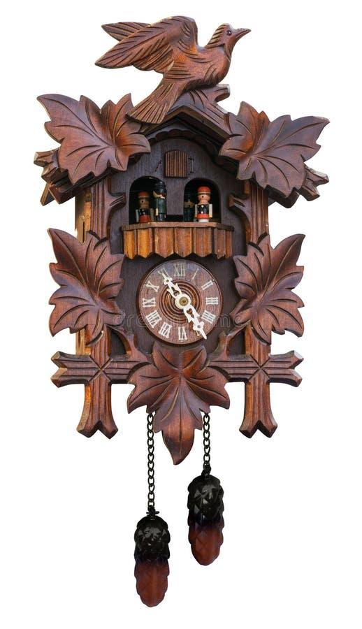 Orologio di cuculo antico fotografia stock libera da diritti