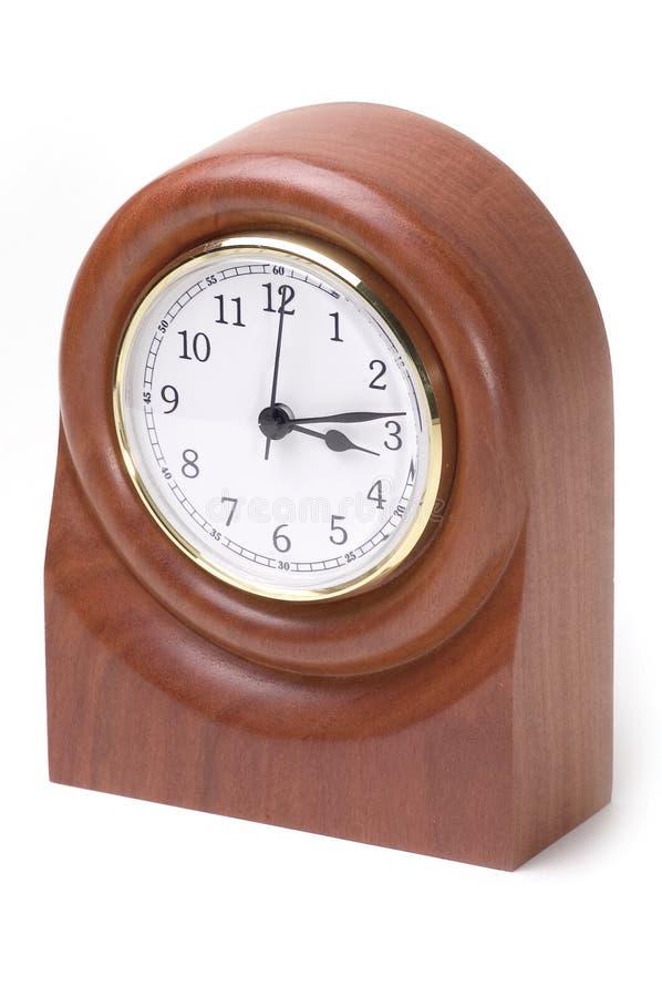 Orologio di legno fotografia stock libera da diritti