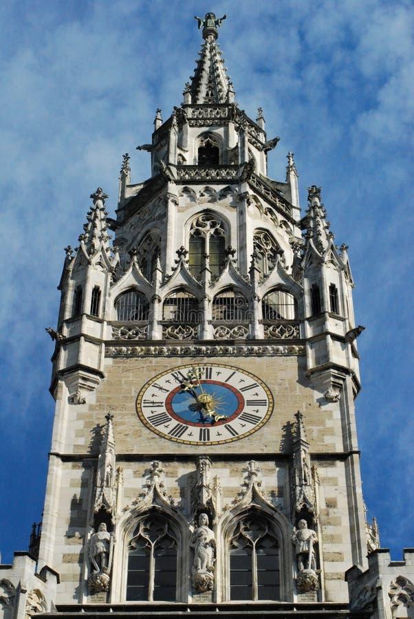 Orologio di municipio di Monaco di Baviera immagini stock