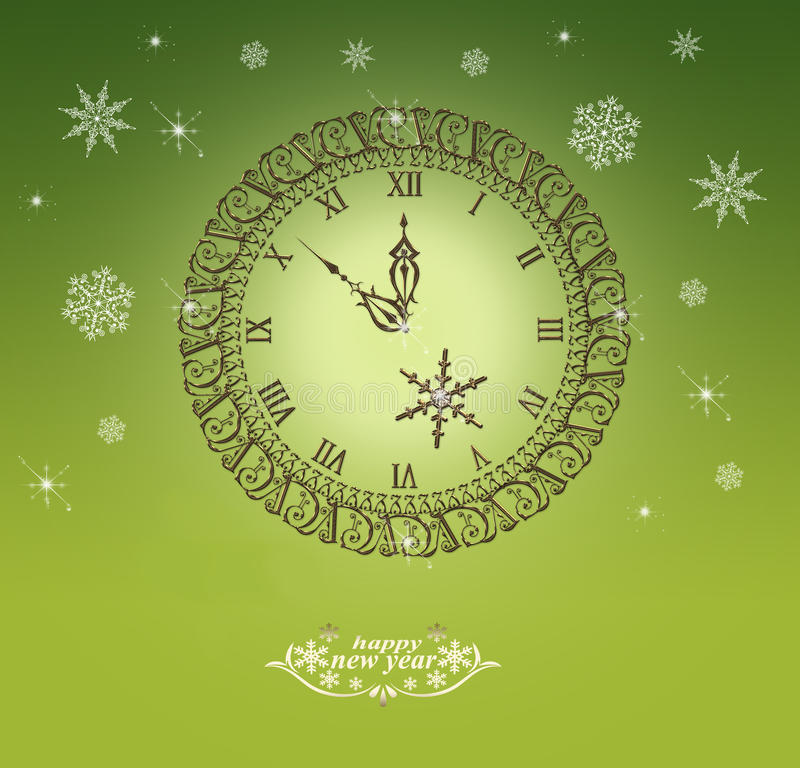 Orologio di Natale royalty illustrazione gratis