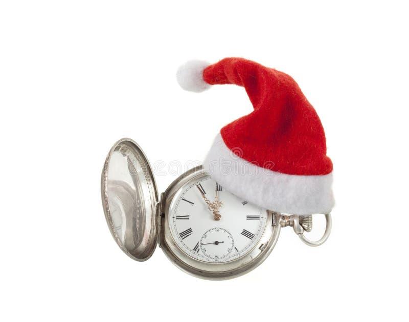Orologio di Natale immagini stock