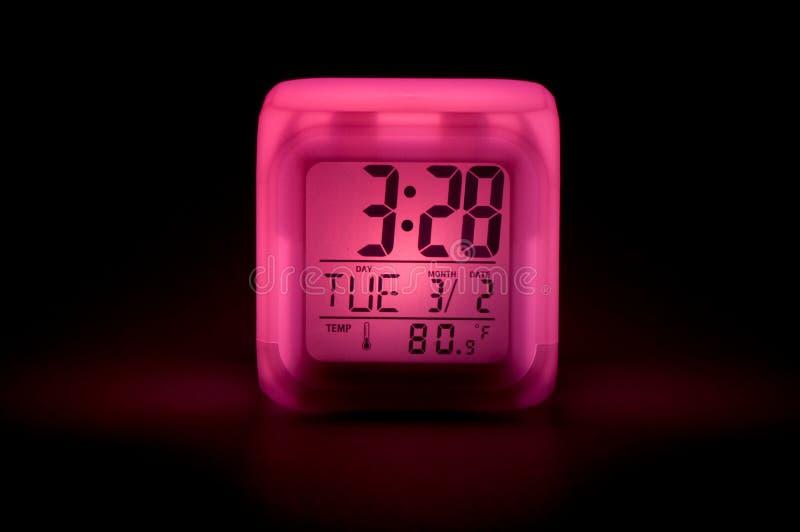Orologio di notte fotografia stock