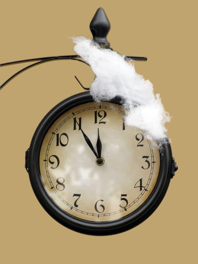 Orologio di nuovo anno fotografie stock