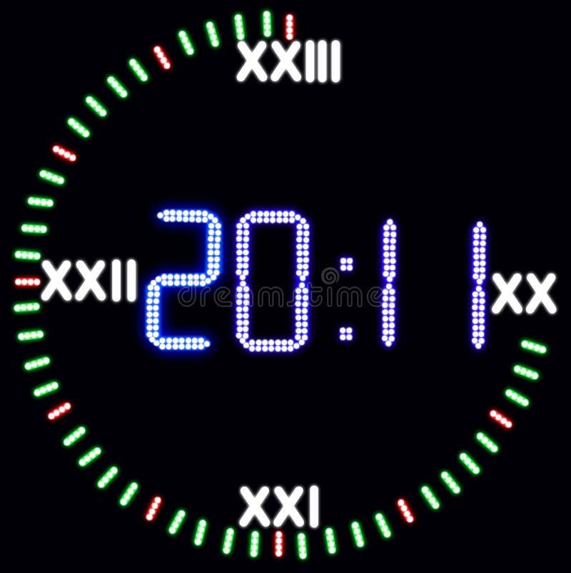 Orologio di nuovo anno illustrazione di stock