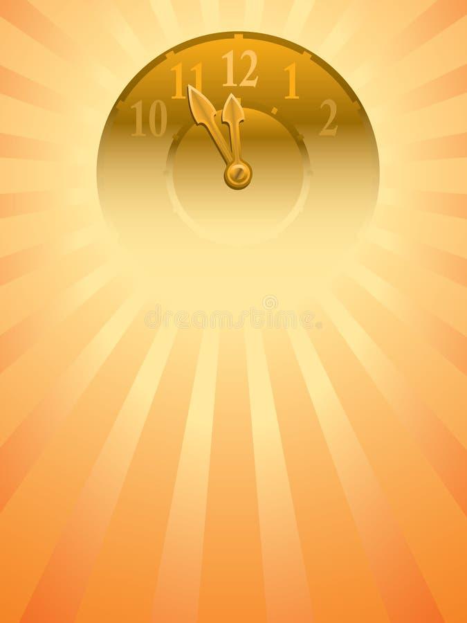 Orologio di nuovo anno illustrazione vettoriale