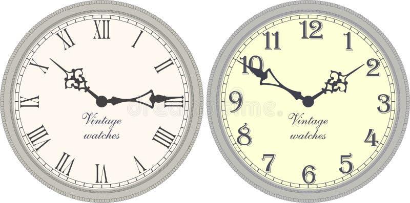 Orologio di parete antico illustrazione vettoriale
