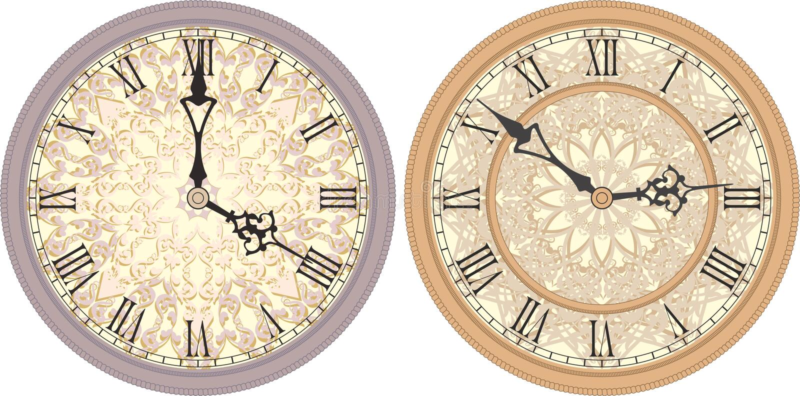 Orologio di parete antico royalty illustrazione gratis