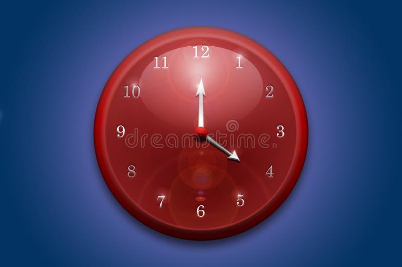 Orologio di parete rosso fotografie stock