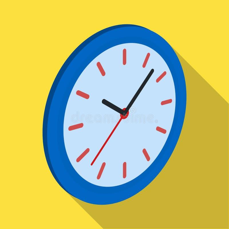 Orologio di parete rotondo Icona dell'orologio dell'ufficio singola nel web isometrico dell'illustrazione delle azione di simbolo illustrazione di stock