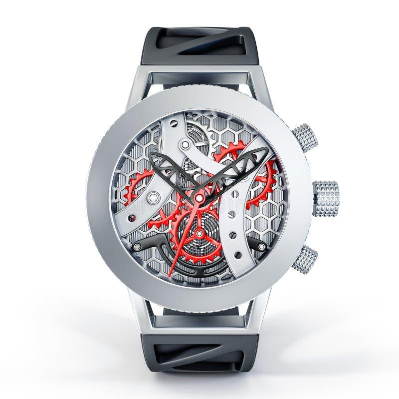 Orologio di scheletro illustrazione di stock