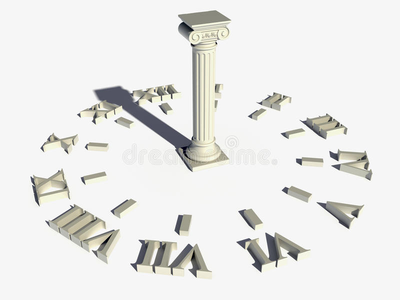 Orologio di Sun immagine stock