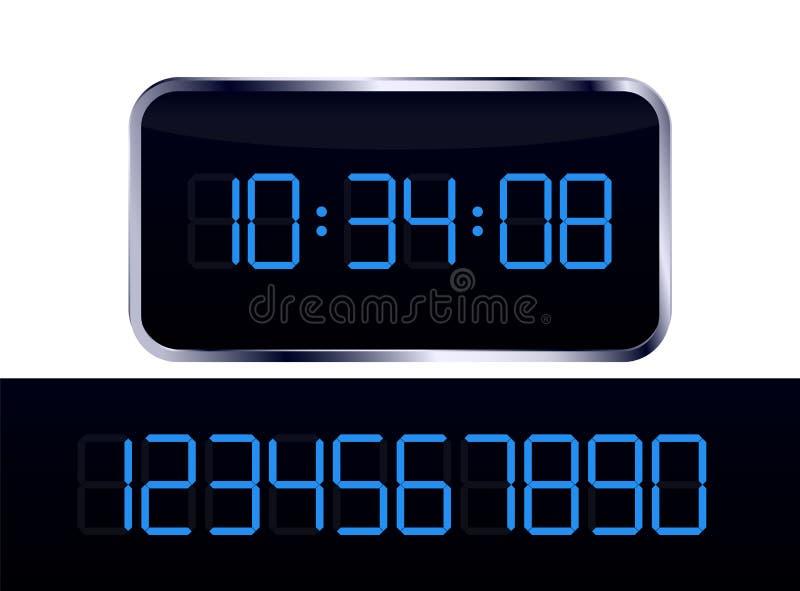 Orologio digitale blu royalty illustrazione gratis