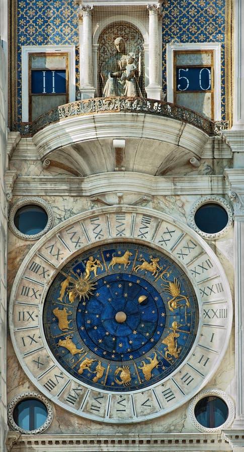 Orologio famoso a Venezia fotografie stock