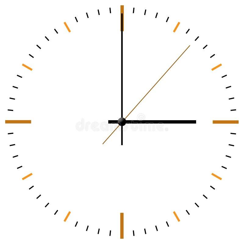 Orologio-fronte illustrazione di stock