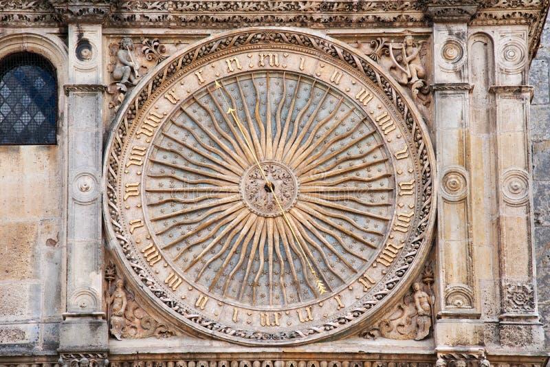 Orologio gotico fotografie stock