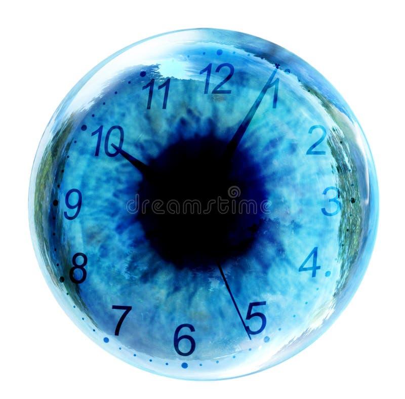 Orologio in occhio fotografia stock