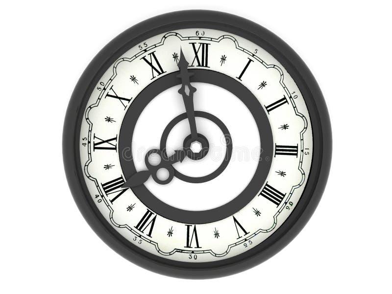 Orologio. otto in punto royalty illustrazione gratis
