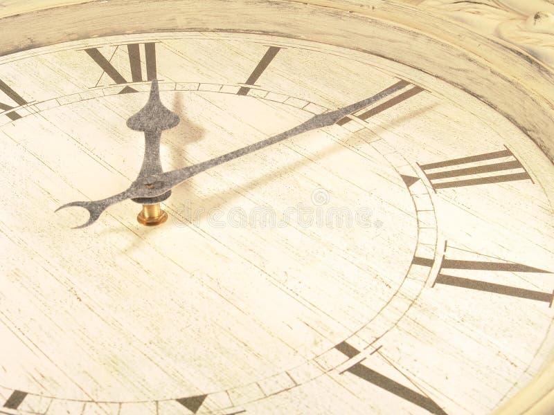 Orologio (primi 10 minuti) fotografia stock