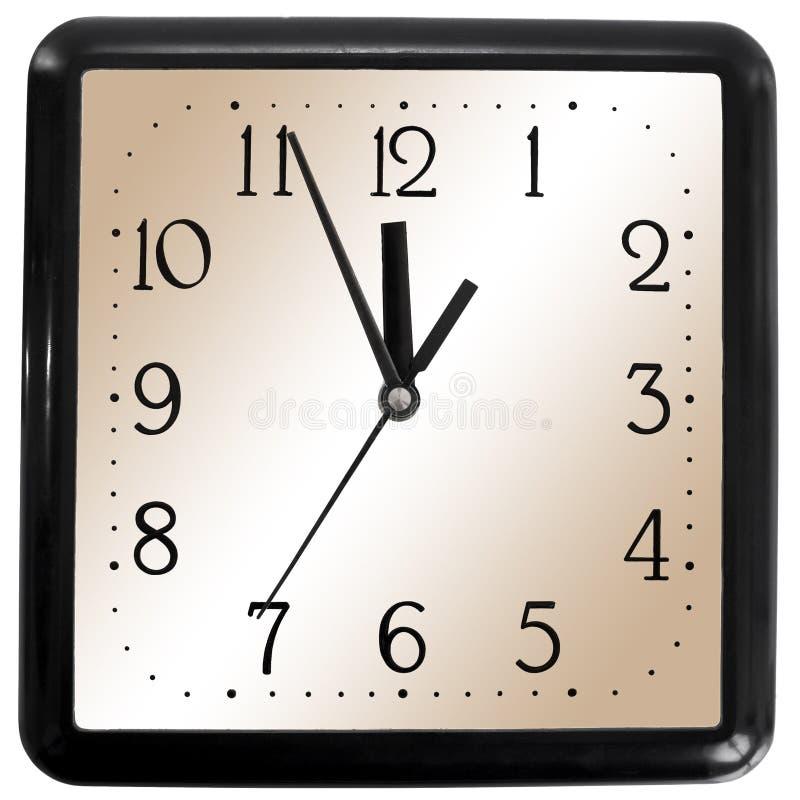 Orologio quadrato semplice fotografie stock