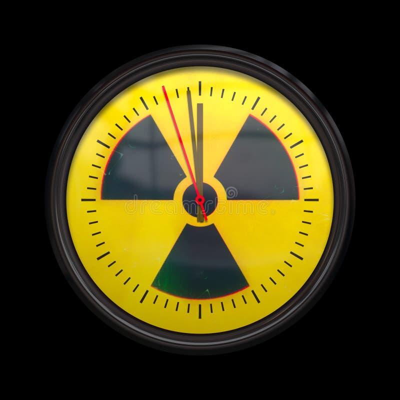 Orologio radioattivo illustrazione vettoriale