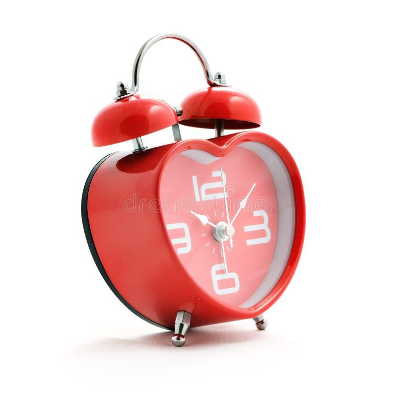 Orologio rosso del cuore immagine stock libera da diritti