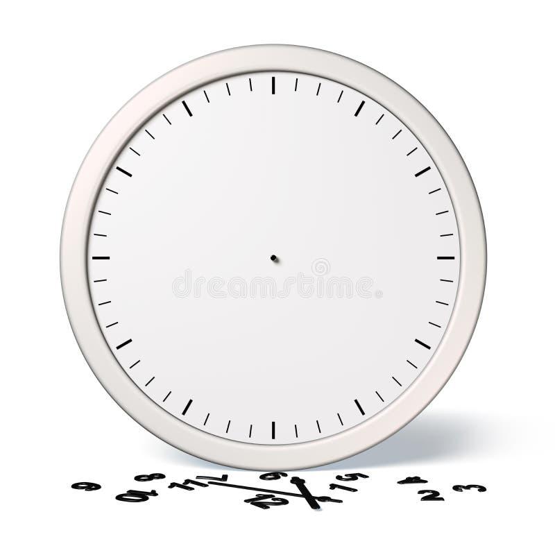 Orologio rotto illustrazione di stock