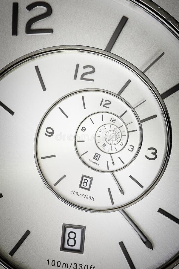 Orologio a spirale fotografia stock