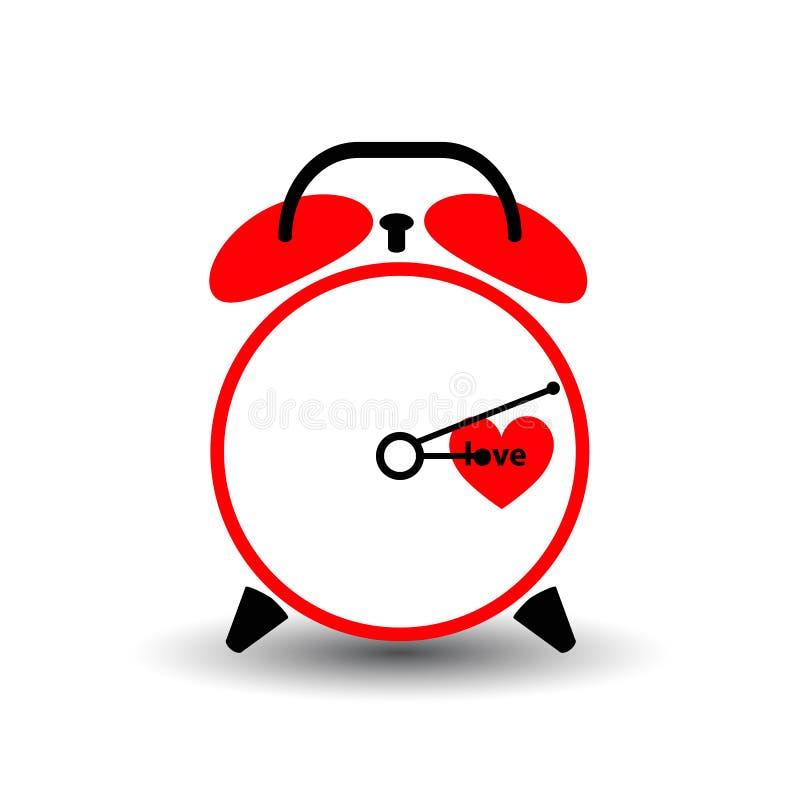 Orologio Tempo di amore Giorno del biglietto di S. Valentino s royalty illustrazione gratis