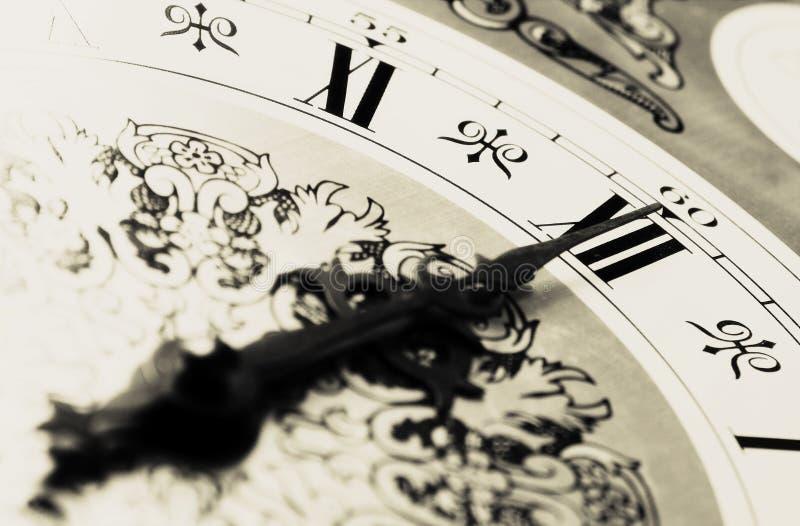 OROLOGIO - tempo Midnight immagine stock